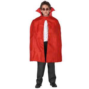 Capa Vampiro Vermelha com Gola, 70 cm