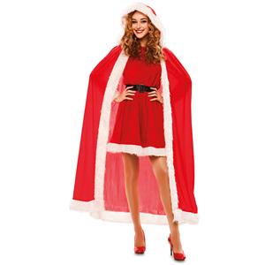 Capa Vermelha de Natal Aveludada, Adulto
