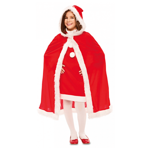 Capa Vermelha de Natal Aveludada, Criança