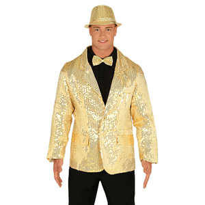 Casaco Dourado com Lantejoulas,  Adulto