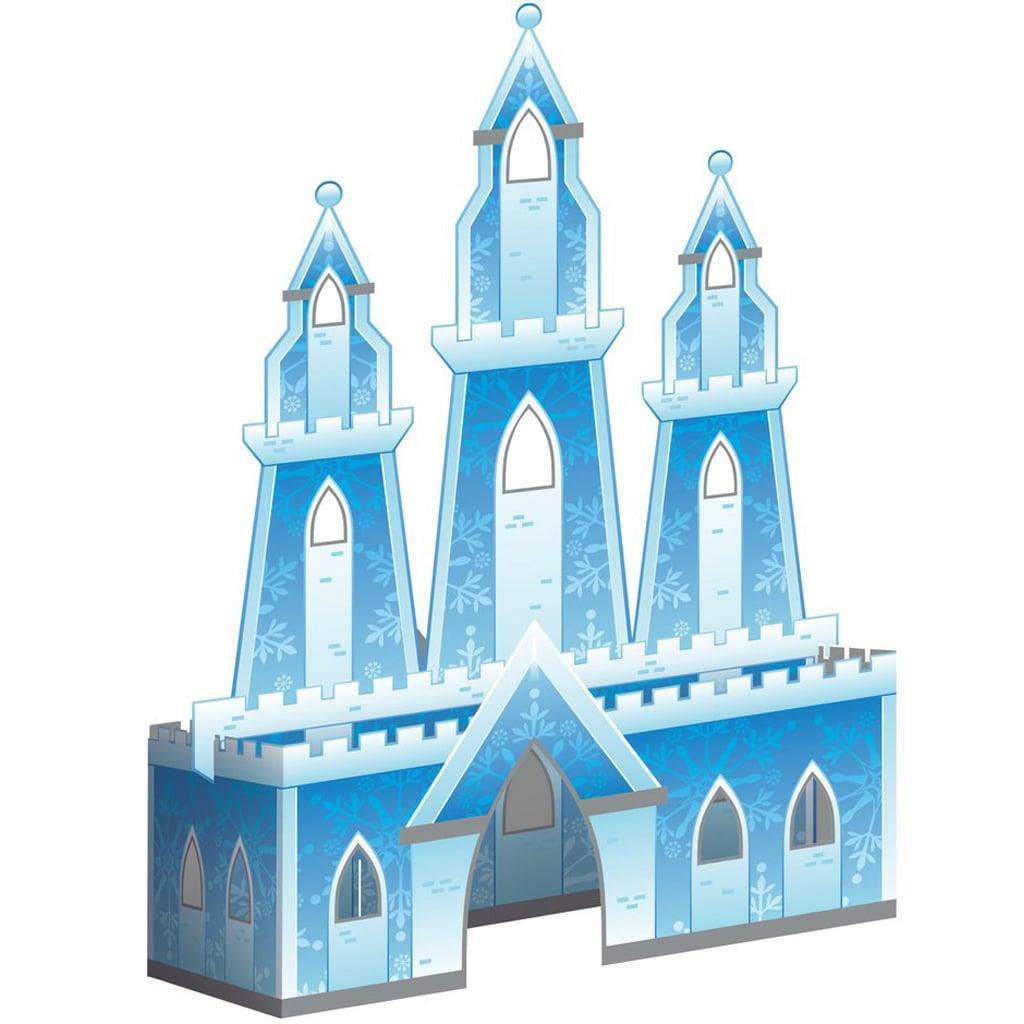 Centro de Mesa Castelo Princesa do Gelo 3D