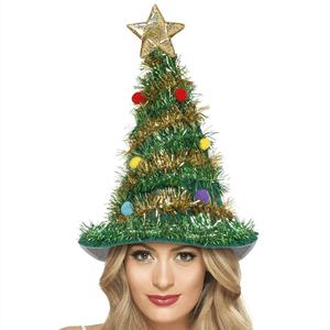 Chapéu Árvore Natal Enfeitada