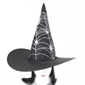 Chapéu Bruxa de Tecido com cabelo