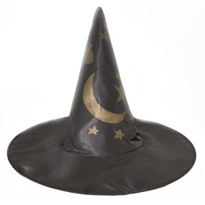 Chapéu Bruxa com Estrelas e Lua