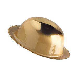 Chapéu Coco Dourado Metalizado