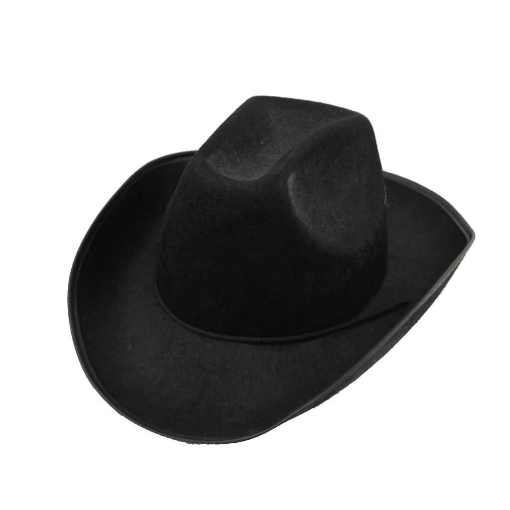Chapéu Cowboy Vaqueiro Preto, Adulto