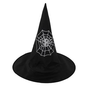 Chapéu Bruxa em Tela com Teia de Aranha
