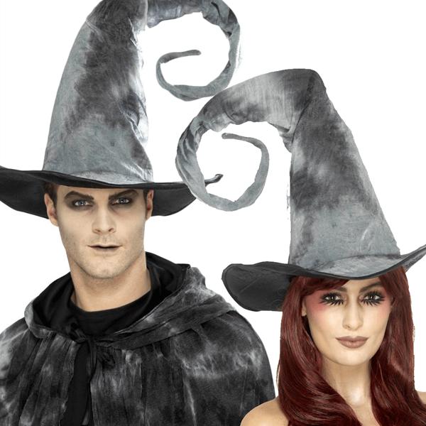 Chapéu de Feiticeiro Cinzento Comprido