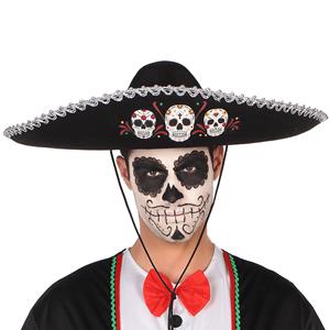 Chapéu de Mexicano Dia dos Mortos, 58 cm