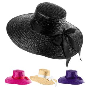 Chapéu de Palha com Fita Várias Cores