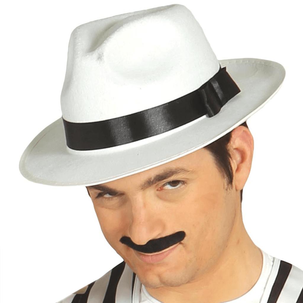 Chapéu Gangster Branco Feltro