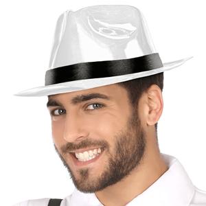 Chapéu Gangster Plástico Branco