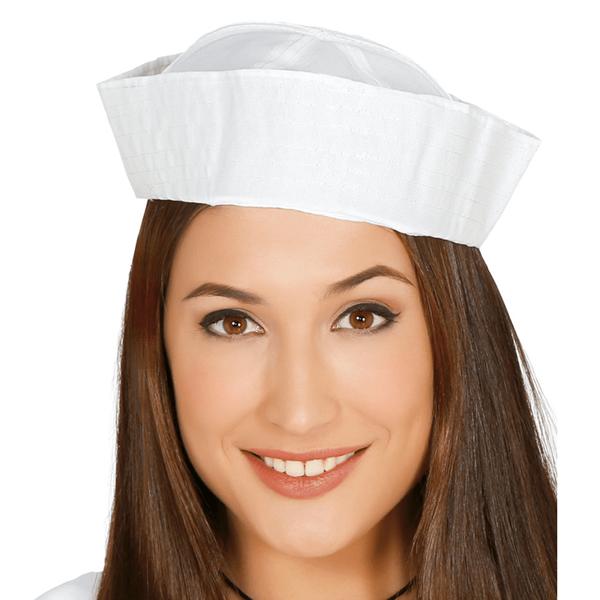 Chapéu Marinheiro Branco em Tecido