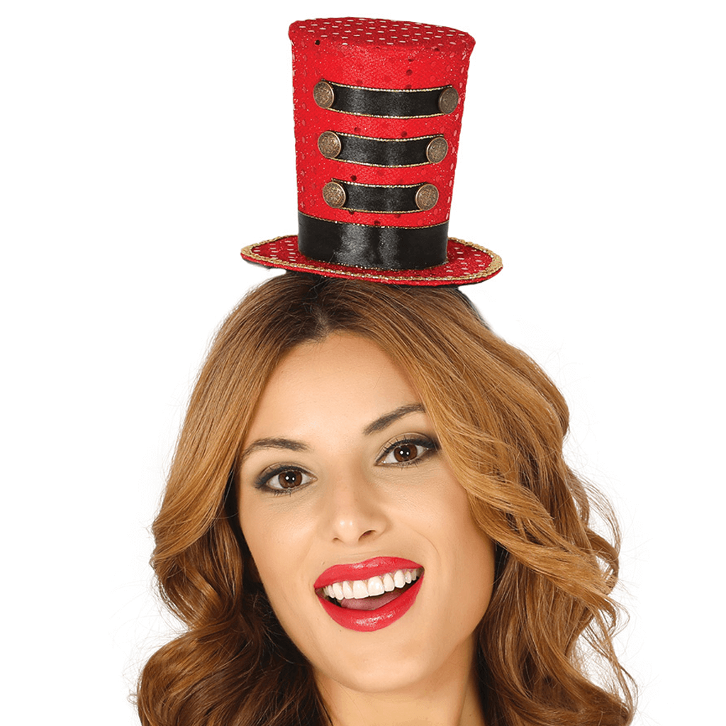 Chapéu Majorette Vermelho Mini