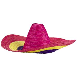 Chapéu Mexicano em Palha Multicor