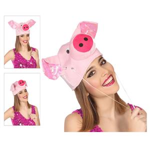 Chapéu Porquinho Rosa