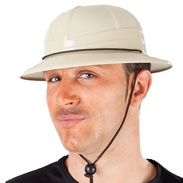 Chapéu Safari Beje Plástico