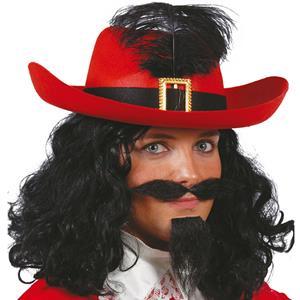 Chapéu Vermelho Mosqueteiro, Adulto