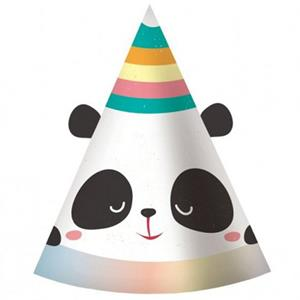 Chapéus Panda Arco-Íris, 6 unid.