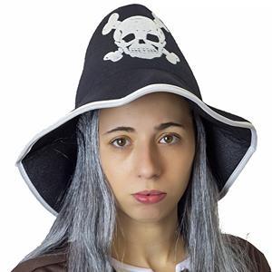 Chapéu Pirata com Cabelo