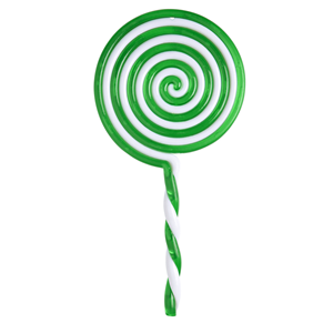 Chupa Chupa Verde em Plástico, 23 Cm