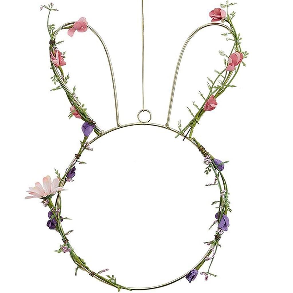 Coelho da Páscoa com Flores Decorativo