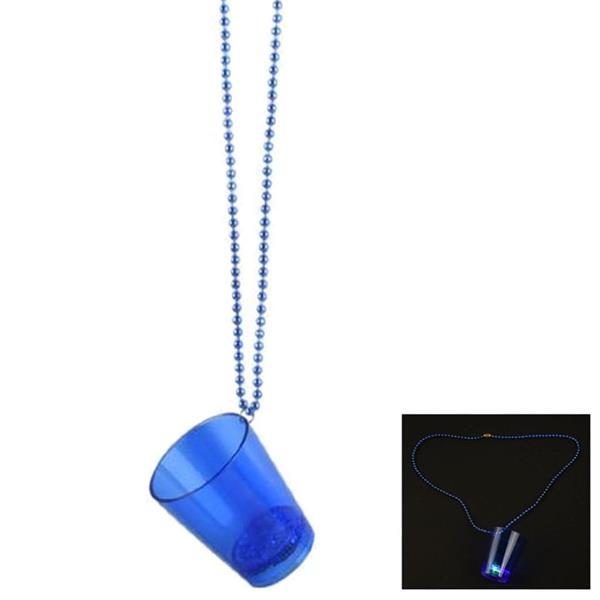 Colar Copo de Shot Azul com Luz
