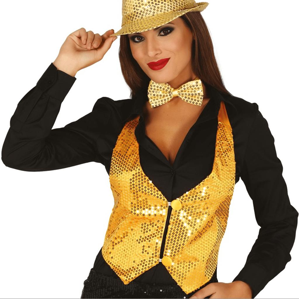 Colete Lantejoulas Dourado, Mulher