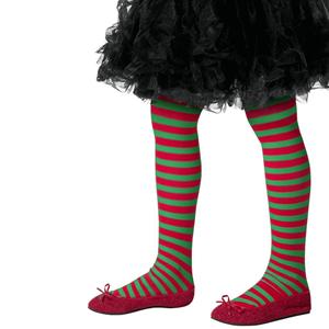 Collants Riscas Verde e Vermelho, Criança
