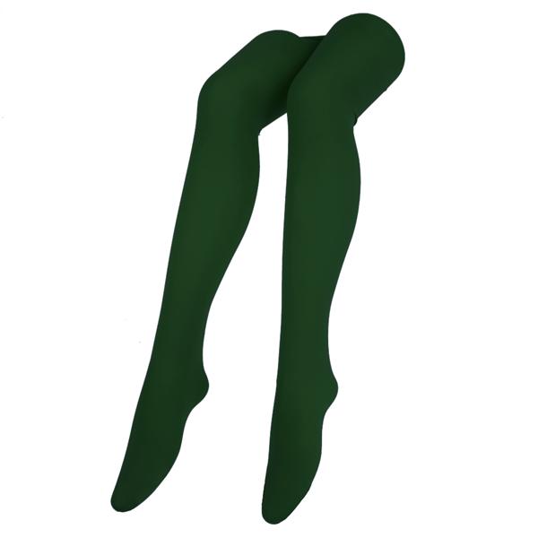 Collants Verde Escuro Microfibra