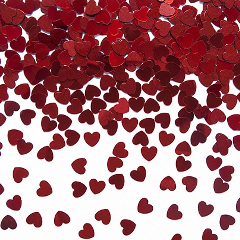 Confeti Coração Vermelho 30 gramas