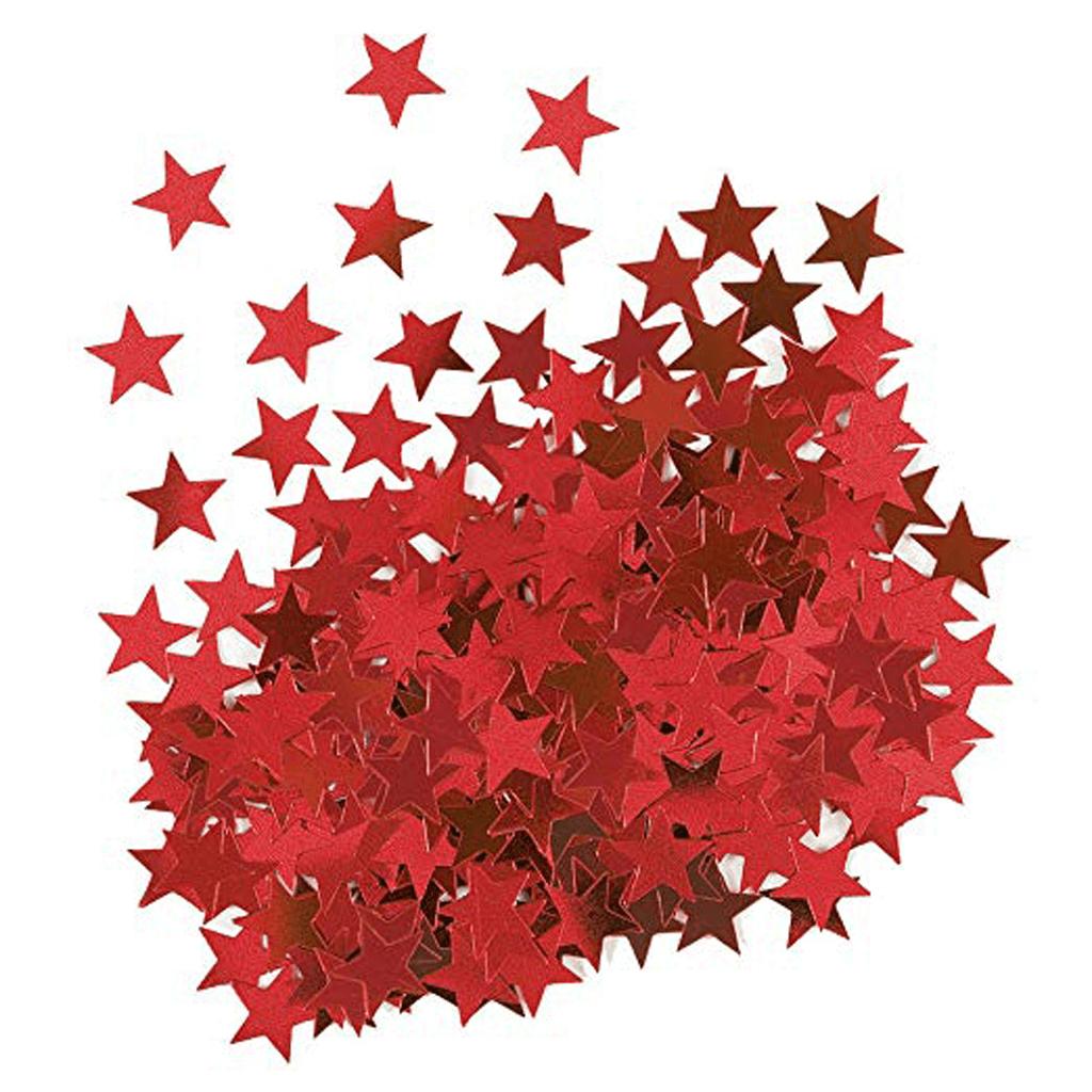 Confeti Estrela Vermelho, 14 gramas