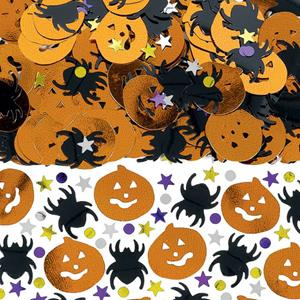 Confetis Abóboras e Aranhas Halloween Metalizados, 14 gr