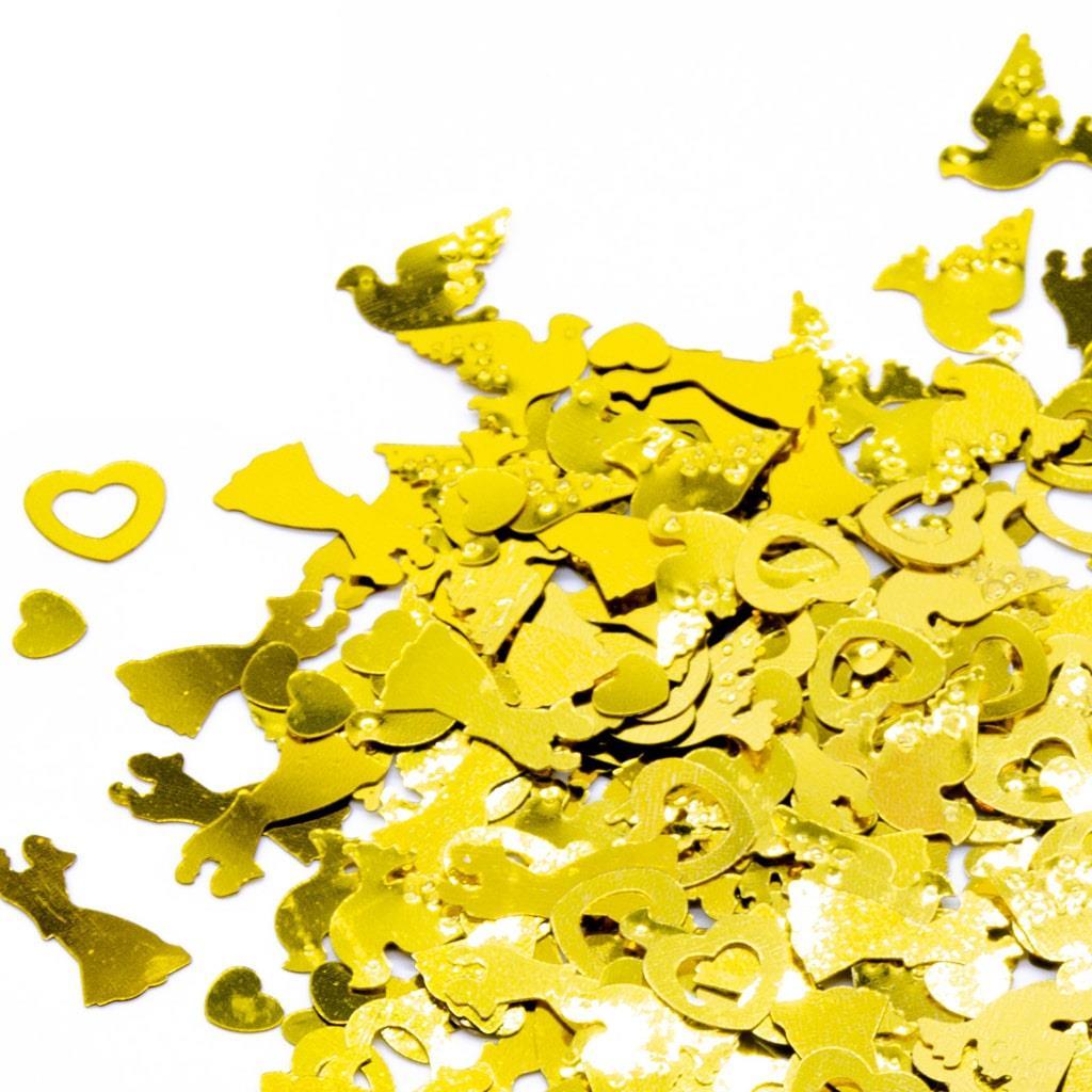 Confetis Casamento Dourado, 20 gr.