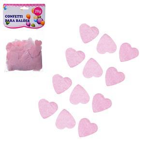 Confetis Corações Rosa para Balões, 20 gr.