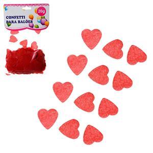 Confetis Corações Vermelhos para Balões, 20 gr.