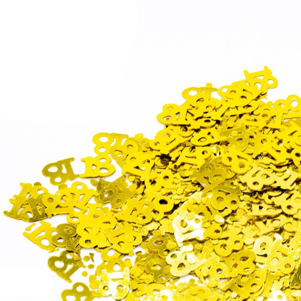 Confetis Dourados 18 Anos, 20 gr