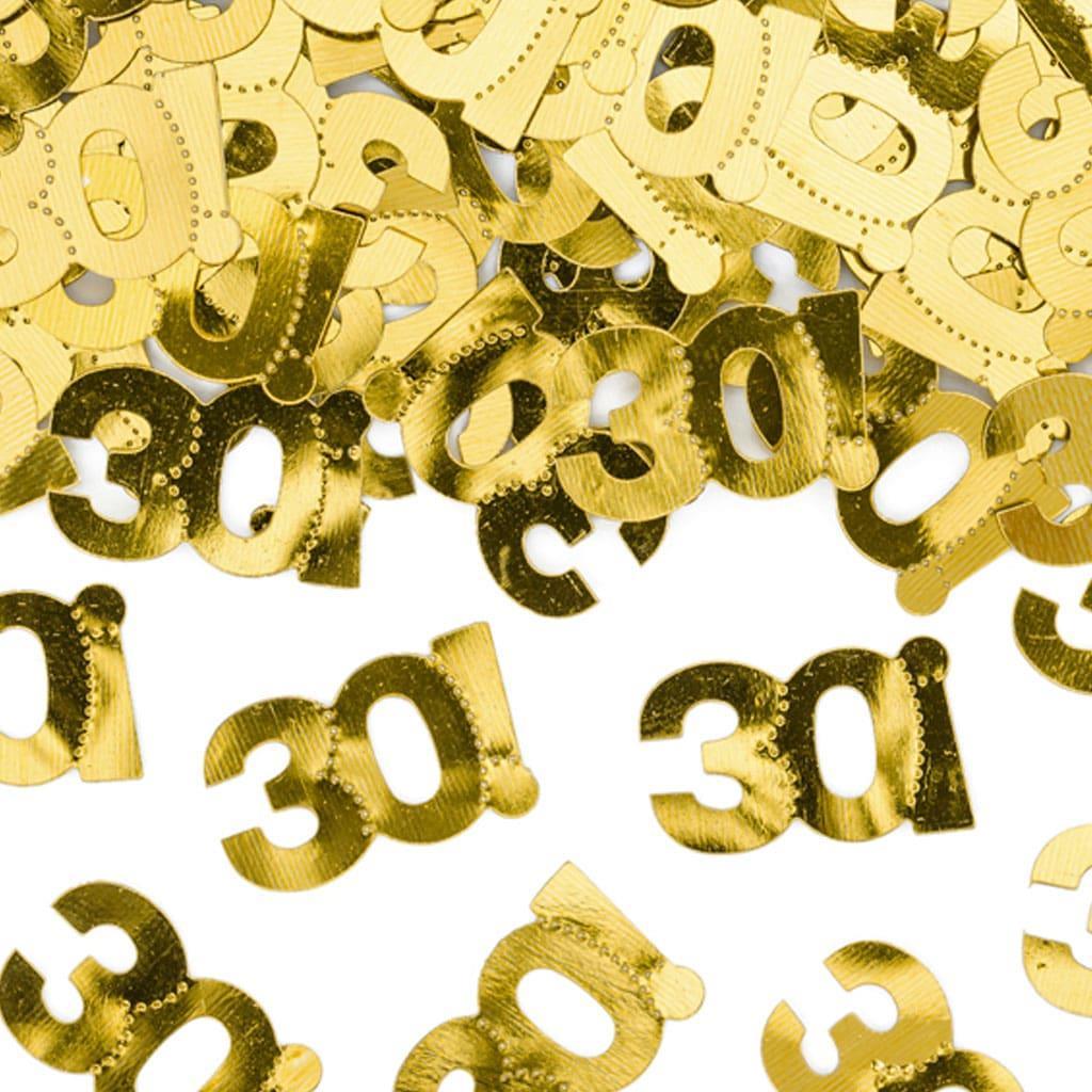 Confetis Dourados 30 anos, 15 gr