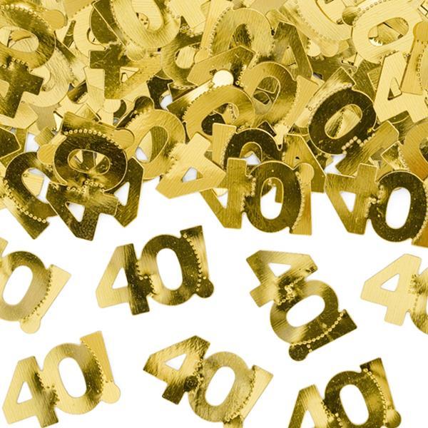 Confetis Dourados 40 Anos, 15 gr.