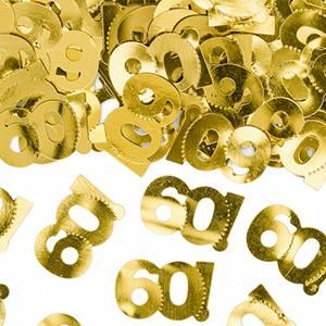 Confetis Dourados 60 anos, 15 gr.