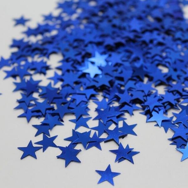 Confetis Estrela Azul Escuro, 14 gr