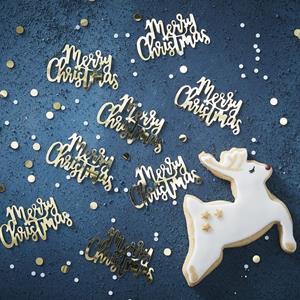 Confetis Merry Christmas Dourado, 14 gr