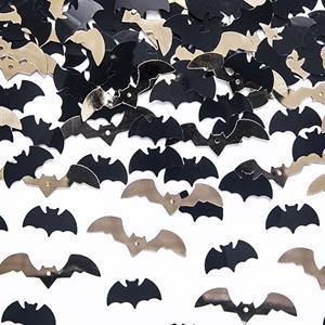 Confetis Morcegos Pretos e Dourados, 15 gr.