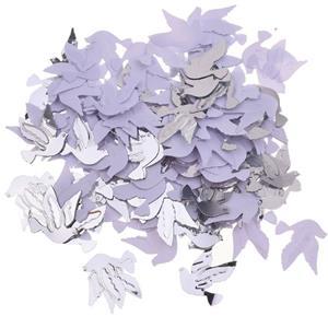 Confetis Pombas Brancas e Prateadas, 15 gr.
