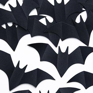 Confetis Pretos Morcegos, 8cm, 10un