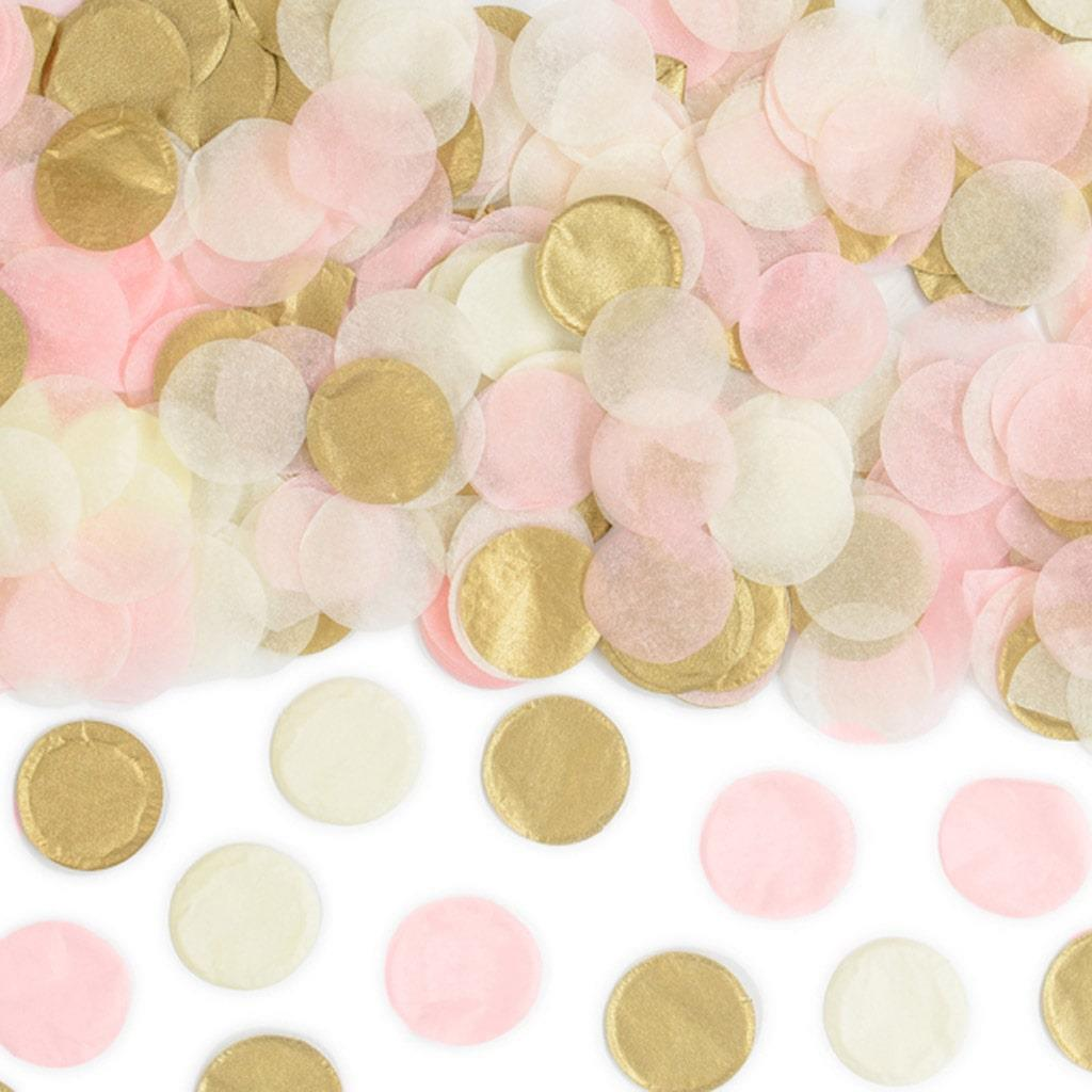 Confetis Redondos Dourado e Rosa, 3 gr.