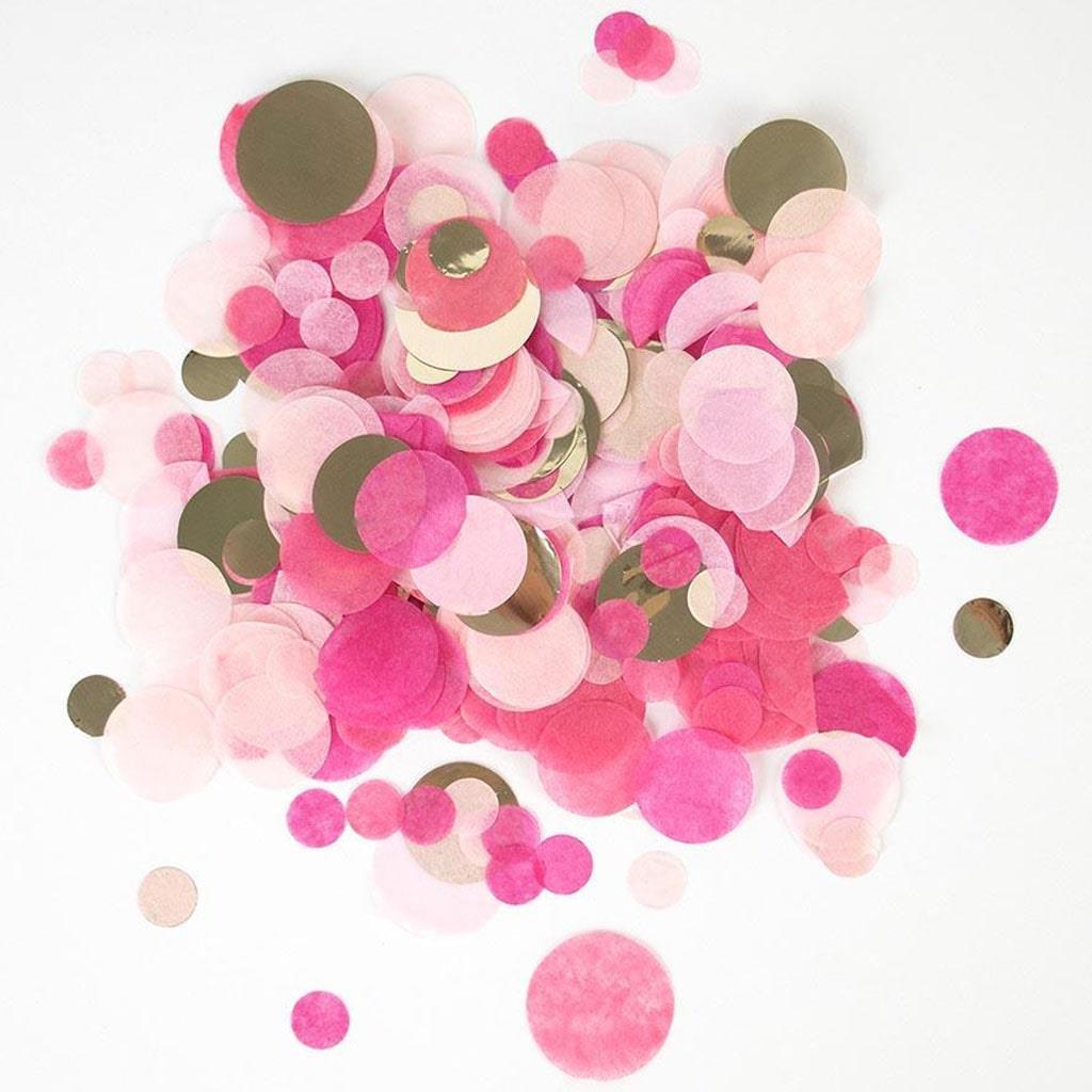 Confetis Redondos Rosa e Dourado, 15 gr.