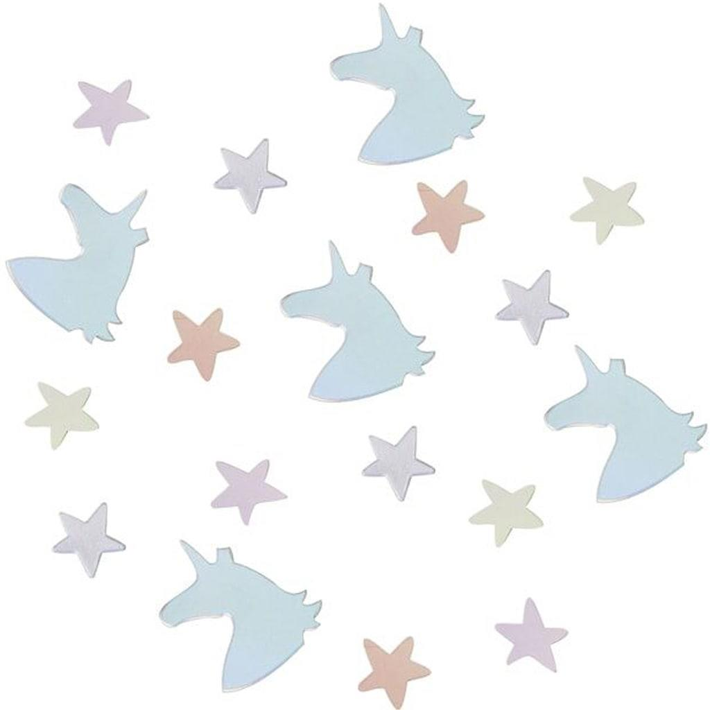 Confetis Unicórnios e Estrelas Iridescentes, 14 gr