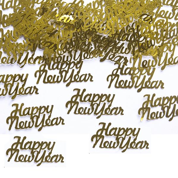 Confetis Happy New Year Dourado, 3 gr.
