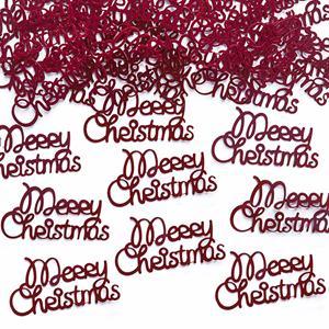 Confetis Natal Merry Christmas Vermelho, 3 gr.